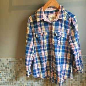 Abercrombie & Fitch A&F plaid button down size M